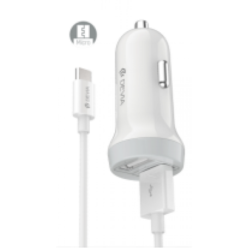 12V Зарядно Devia Idrawer 3.1A + micro USB кабел