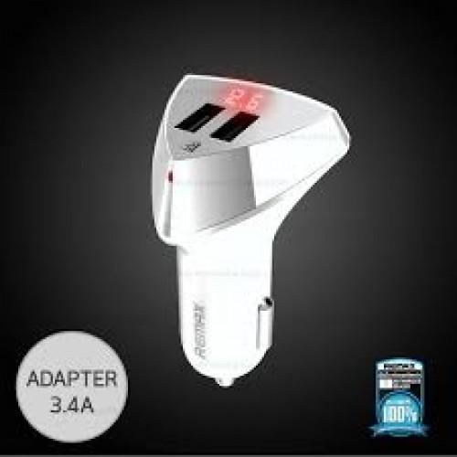 12V Зарядно REMAX Aliens RCC208 LED 3.4A 2USB Бял