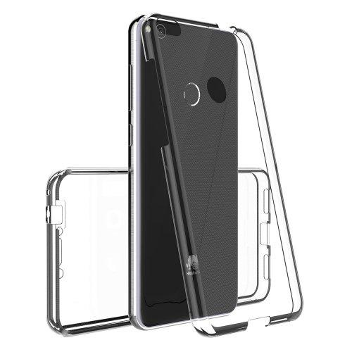 360 градусов калъф PC + GLASS за Huawei P20 Lite Прозрачен