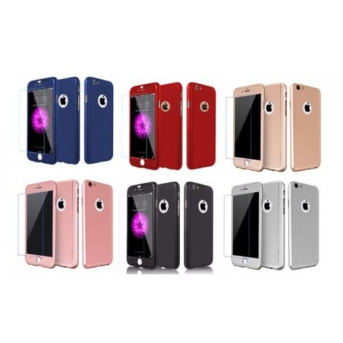 360 градусов калъф за Samsung N950 Galaxy Note 8 + Стъклен протектор Розово Злато