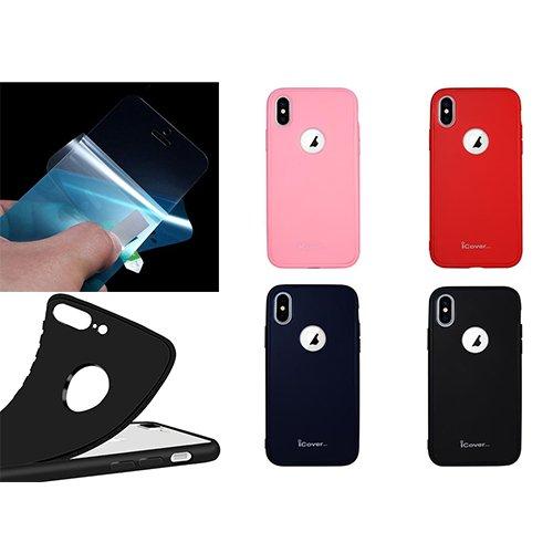 iCover 360 градусов TPU калъф за Apple iPhone 5/5S/SE + NANO протектор Розов