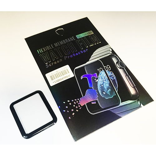 3D Full Glue Стъклен протектор за Apple iWatch 40mm Черен
