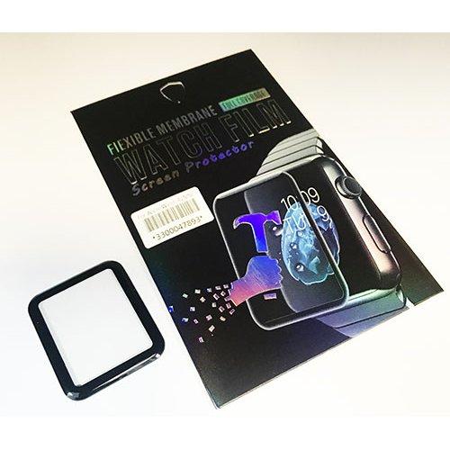 3D Full Glue Стъклен протектор за Apple iWatch 44mm Черен