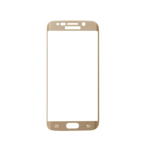 3D Full Glue Стъклен скрийн протектор за Samsung A720 Galaxy A7 2017 Златен