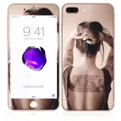 3D Стъклен скрийн протектор 2 части Еротика за iPhone 7G мод.2