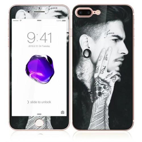 3D Стъклен скрийн протектор 2 части Еротика за iPhone 7G мод.5