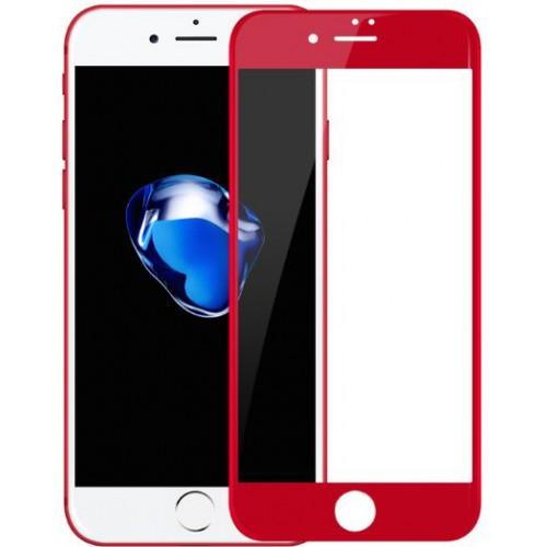 3D Стъклен скрийн протектор Baseus Pet Soft за iPhone 7 Plus Червен