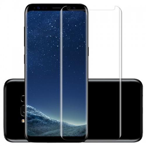 3D Стъклен скрийн протектор за Samsung G965 Galaxy S9 Plus Прозрачен