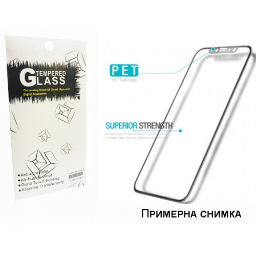 3D Стъклен скрийн протектор ZAZOR за Samsung A320 Galaxy A3 2017 Черен