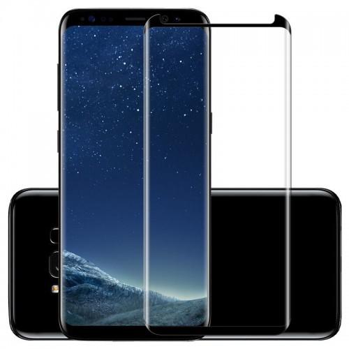 4D Equiptors Стъклен скрийн протектор за Samsung G950 Galaxy S8 Черен