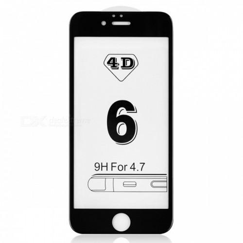 4D Стъклен скрийн протектор за Apple iPhone 6G/6S 4.7 Черен