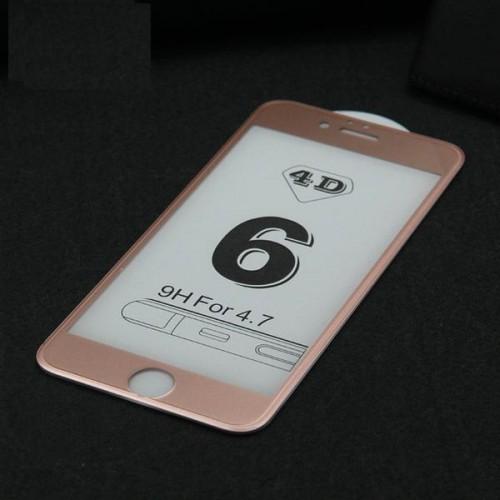 4D Стъклен скрийн протектор за Apple iPhone 6G/6S 4.7 Розово злато