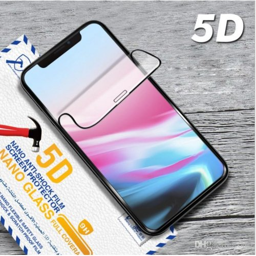 5D Nano противоударен скрийн протектор за Samsung G965 Galaxy S9 Plus - Черен