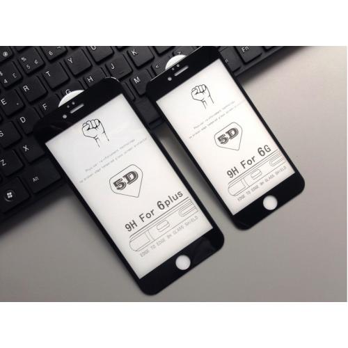 5D Стъклен скрийн протектор за Apple iPhone 6G/6S 4.7 Черен