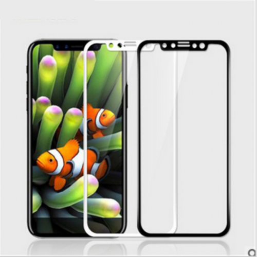5D Стъклен скрийн протектор за Huawei Y6 2018 Бял