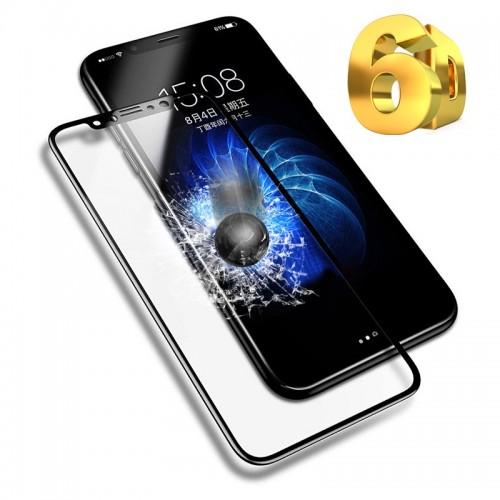 6D Стъклен скрийн протектор за Apple iPhone 8 Plus 5.5 Черен
