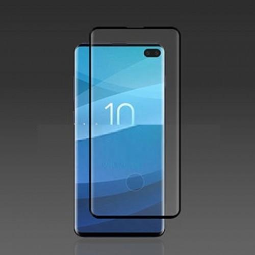 Full Glue Unipha Fingerprint Стъклен скрийн протектор за Samsung G973 Galaxy S10 Черен