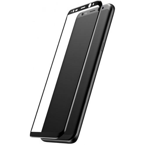3D Стъклен скрийн протектор BASEUS ARC за Samsung Galaxy S8 Plus Черен