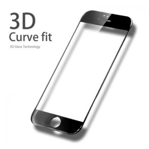 3D Стъклен скрийн протектор за iPhone 6G/6S Черен