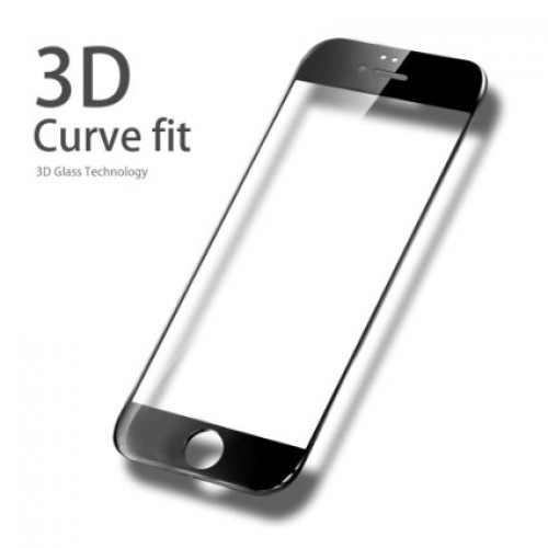 3D Стъклен скрийн протектор за iPhone 7G Черен