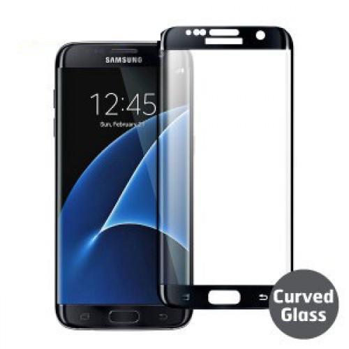 3D Стъклен скрийн протектор за Samsung G930 Galaxy S7 Черен