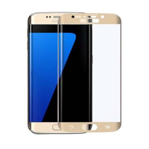 3D Стъклен скрийн протектор за Samsung G930 Galaxy S7 Златен