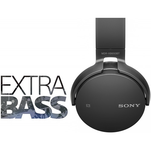 Bluetooth Handsfree слушалки Sony MDR-XB650BT EXTRA BASS Черни
