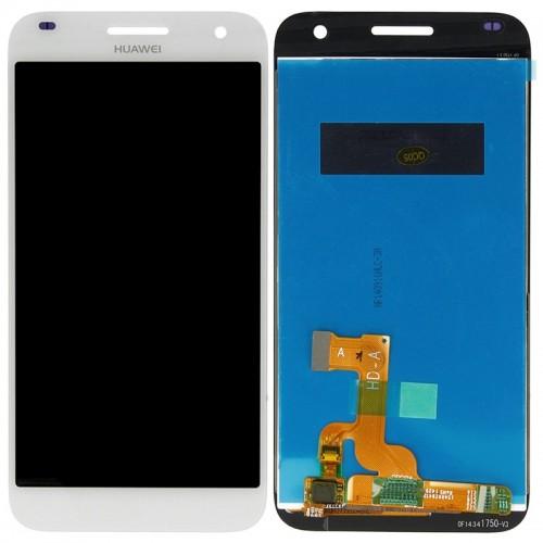LCD Дисплей + Тъч Скрийн за Huawei G7 Бял