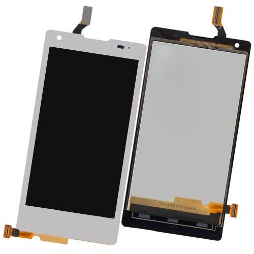 LCD Дисплей + Тъч Скрийн за Huawei G700 Бял