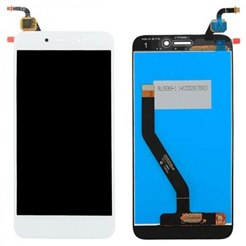 LCD Дисплей + Тъч Скрийн за Huawei Honor 6A Бял