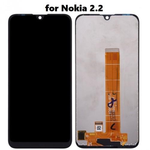 LCD Дисплей + Тъч Скрийн за Nokia 2.2 Черен