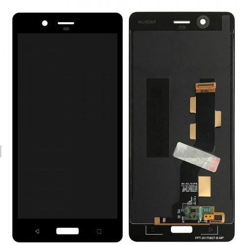 LCD Дисплей + Тъч Скрийн за Nokia 8 2018 Черен