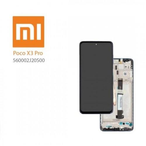 LCD Дисплей + Тъч Скрийн + Рамка за Xiaomi Poco X3 Pro Черен Оригинал