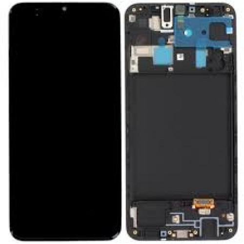 INCELL Съвместим LCD Дисплей + Тъч скрийн + Рамка за Samsung A205 Galaxy A20 Черен