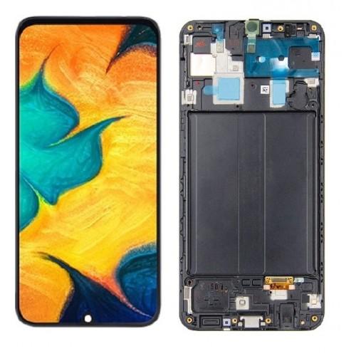 INCELL Съвместим LCD Дисплей + Тъч скрийн + Рамка за Samsung A305 Galaxy A30 Черен