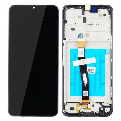LCD Дисплей + Тъч скрийн + Рамка за Samsung A226 Galaxy A22 Черен Оригинал