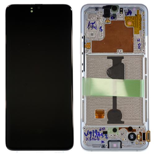 LCD Дисплей + Тъч скрийн + Рамка за Samsung A908 Galaxy A90 Бял