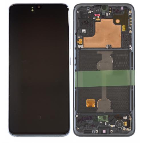 LCD Дисплей + Тъч скрийн + Рамка за Samsung A908 Galaxy A90 Черен