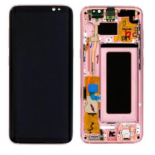 LCD Дисплей + Тъч Скрийн + Рамка за Samsung G950 Galaxy S8 Розов