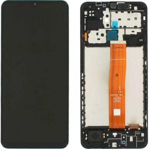 LCD Дисплей + Тъч скрийн + Рамка за Samsung M127F Galaxy M12 (2021) Черен Оригинал