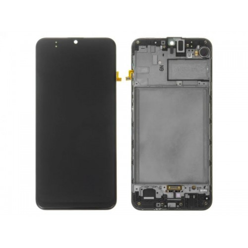 LCD Дисплей + Тъч скрийн + Рамка за Samsung M307 Galaxy M30s Черен