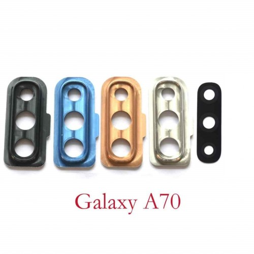 Стъкло за камера за Samsung A705 Galaxy A70 Сребърно