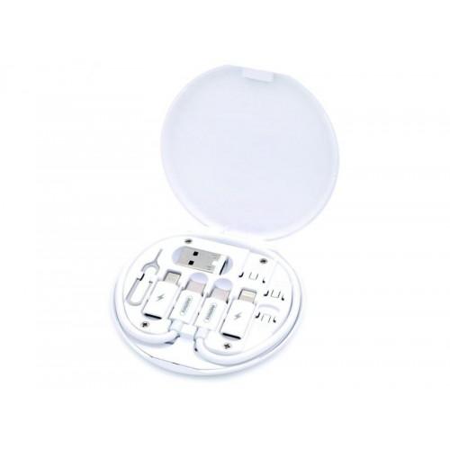 5в1 USB кабел Remax RC-190 60w /Type-C / Micro / Lightning (iPhone) Бял