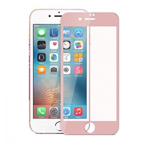 3D Стъклен скрийн протектор за iPhone 6G/6S Розов
