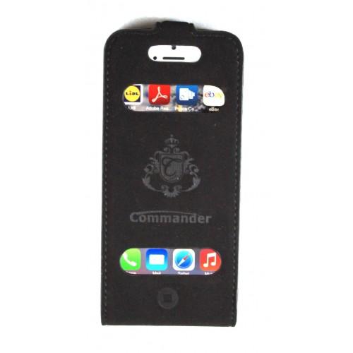 Flip калъф Commander за Apple iPhone 5/5S/SE Черен