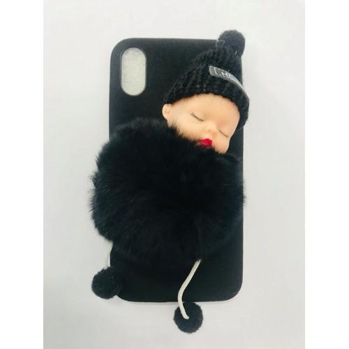 Fashion кейс Бебе за Apple iPhone X / XS Черен