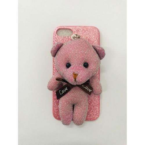 Fashion кейс Мече за Apple iPhone 7/8 Розов