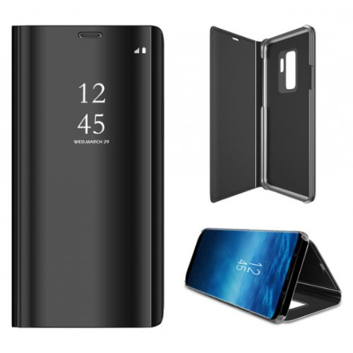 Flip калъф Clear View за Samsung Galaxy A8 (2018) Plus Черен