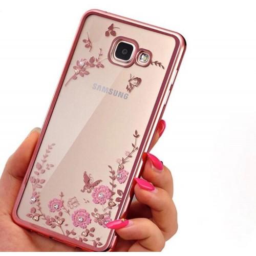 Силиконов гръб с цветя за Xiaomi Mi A3 Розов
