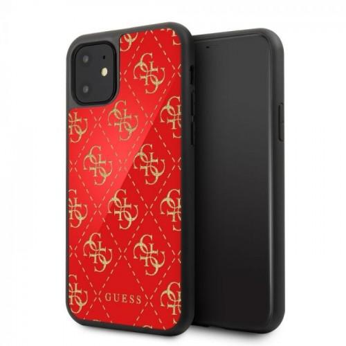 Оригинален калъф GUESS за Apple iPhone 11 Червен